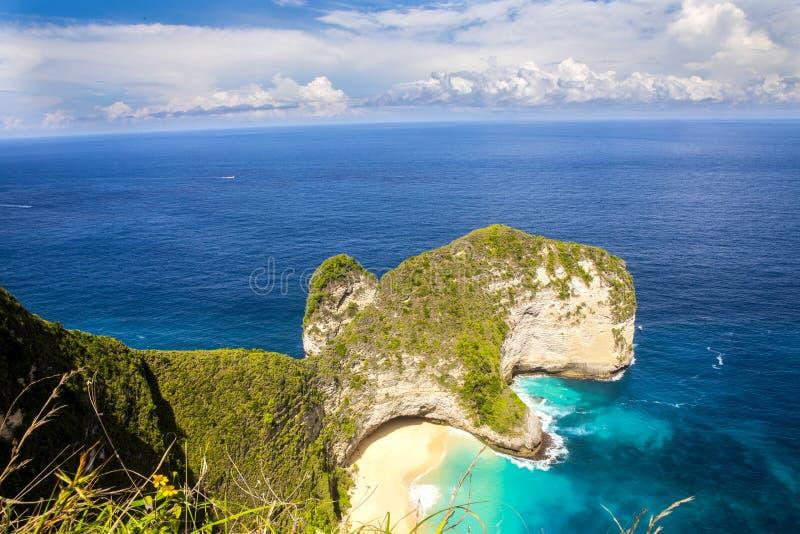 Bardzo popularny manta widok, Nusa Penida, Indonezja fotografia stock