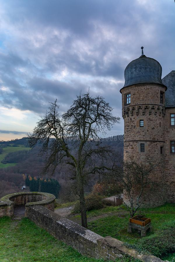 Bardzo sławny Grodowy Lichtenberg, Kusel obraz royalty free