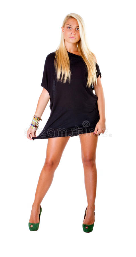 Bardzo seksowna blondynki kobieta fotografia stock