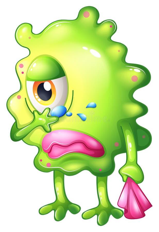 Bardzo smutny potwór ilustracja wektor