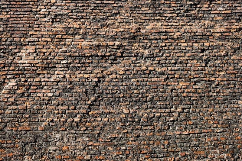 Bardzo Stara ściany z cegieł tekstura, tło I obraz stock