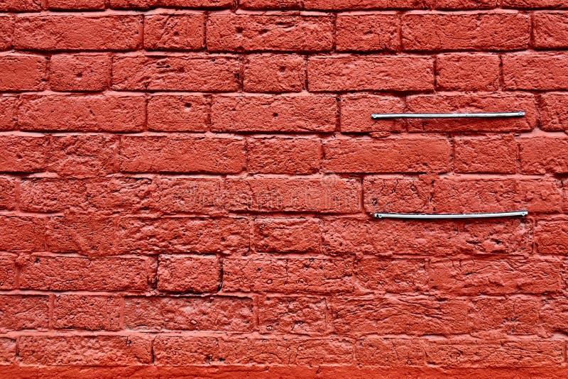 Bardzo stara, będąca ubranym out czerwona ściana z cegieł tekstura, tło obraz stock