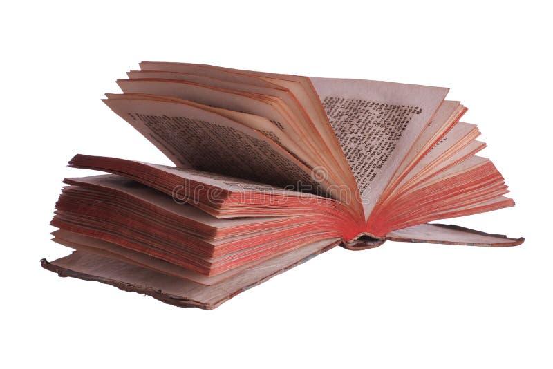 Bardzo stara historyczna książka z roznieconymi stronami obrazy stock