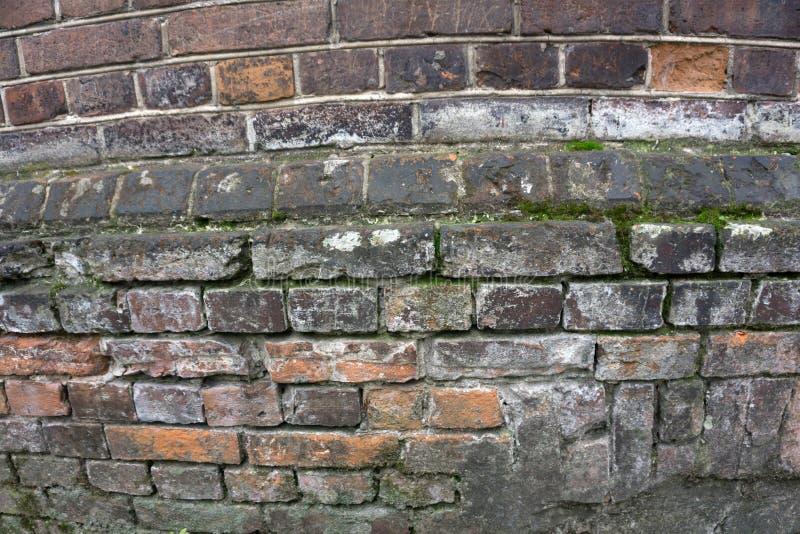 Bardzo stary blady czerwony ściana z cegieł jako tło lub tapeta Ceglana tekstura i wzór zdjęcie stock