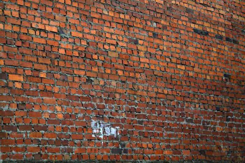 Bardzo stary czerwony ściany z cegieł tekstury tło zdjęcie royalty free