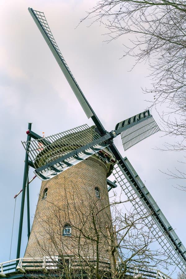 Bardzo stary holenderski rocznika wiatraczek zdjęcie stock