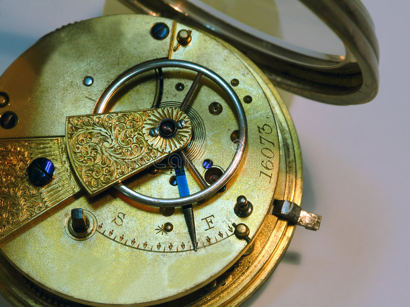 bardzo stary zegar obraz stock