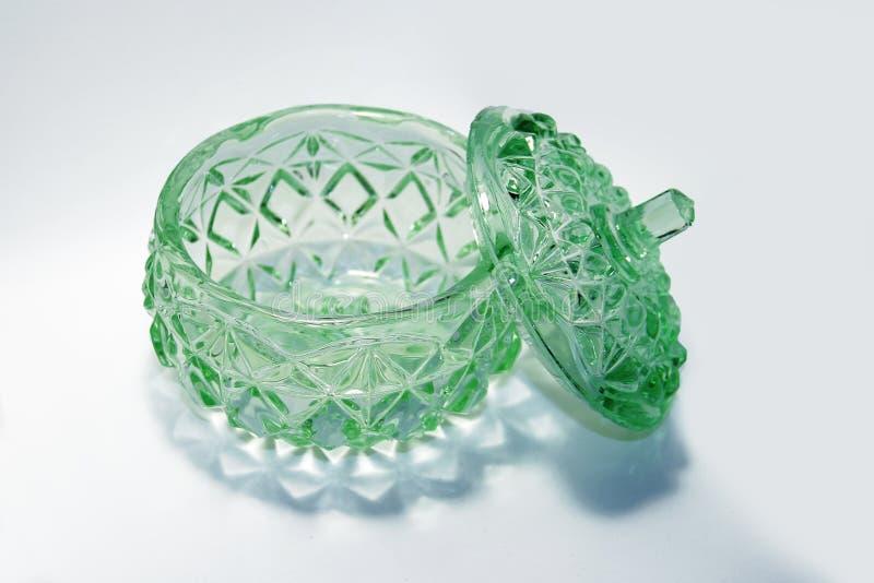 Bardzo stary zielony szklany puchar obrazy royalty free