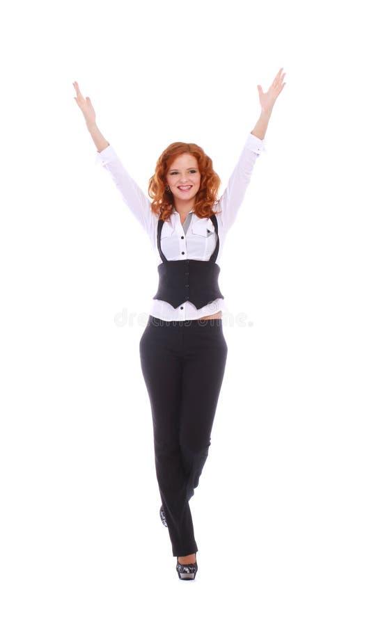 Bardzo szczęśliwa biznesowa kobieta zdjęcie royalty free