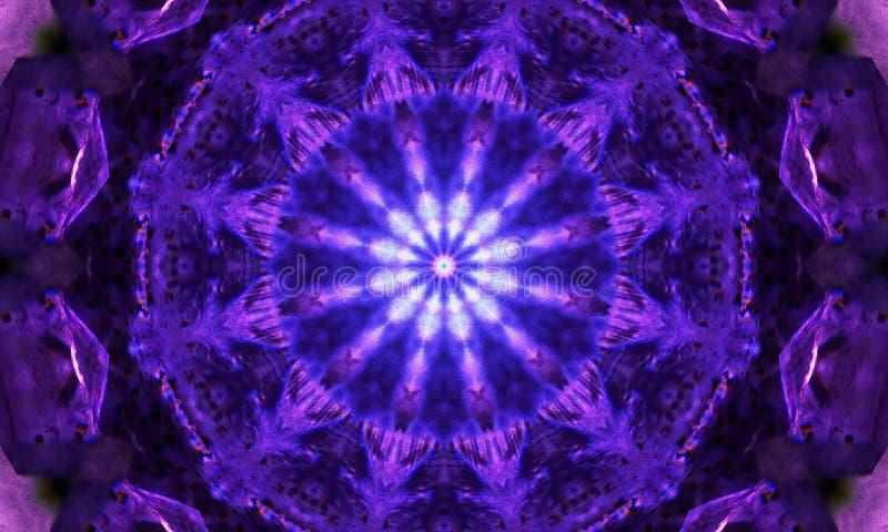Bardzo szczegółowe purpury, fiołkowa mandala sztuka/ royalty ilustracja