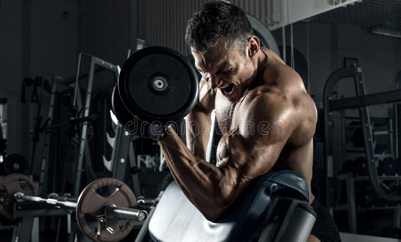 Bardzo władza faceta sportowy bodybuilder zdjęcia stock