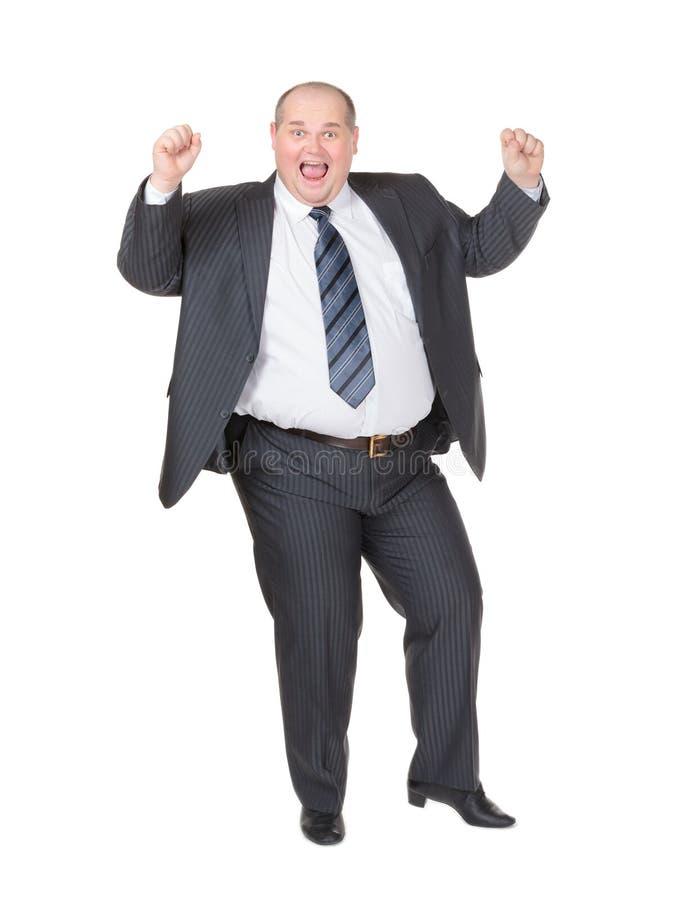 Download Bardzo Z Nadwagą Rozochocony Biznesmen Zdjęcie Stock - Obraz złożonej z mężczyzna, odosobniony: 28961702