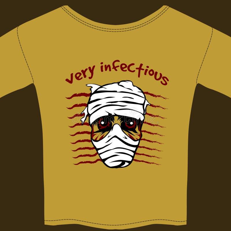 Bardzo Zakaźny koszulka projekta szablon royalty ilustracja