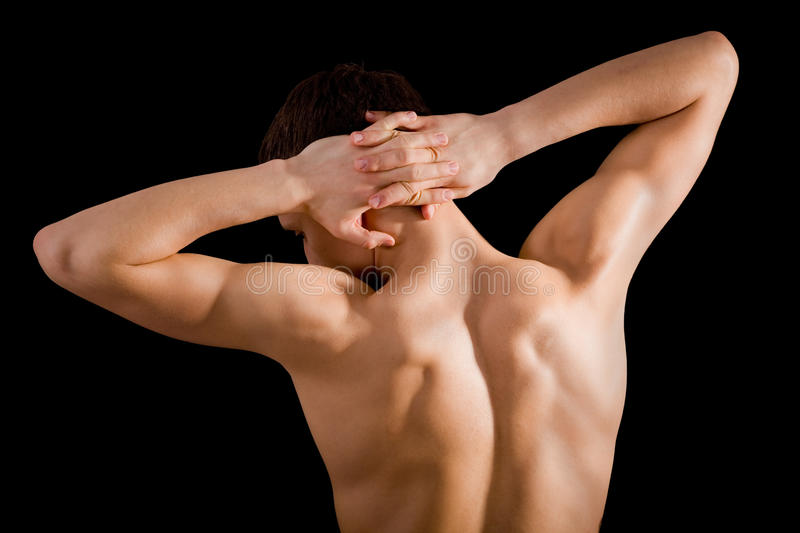 Bare back and shoulders athlete stock photography