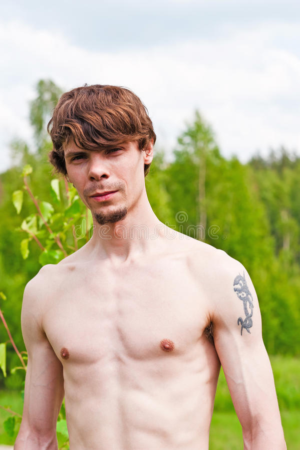 Download Bare-chested man stock image. Image of muscle, inflated - 25670667