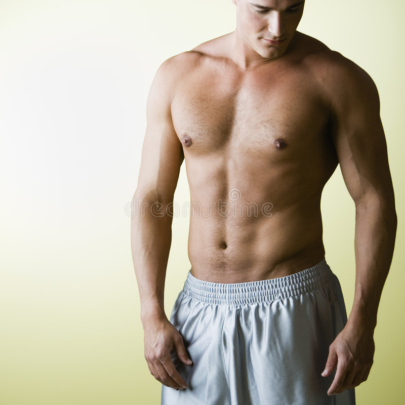 Download Bare Chested Man stock image. Image of young, sideways - 3313497