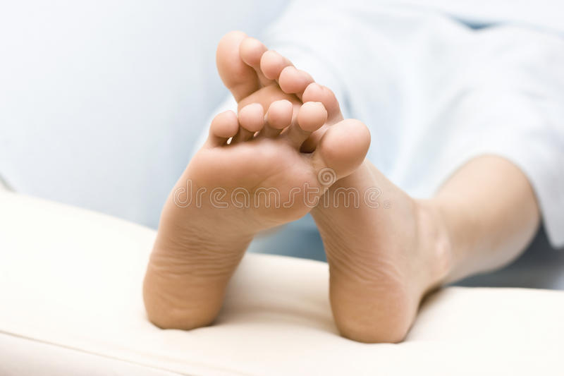Download Bare feet stock image. Image of care, cotton, bedroom - 28986675
