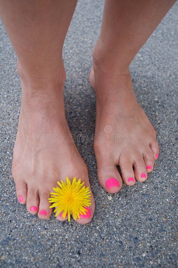 Bare Summer Feet Royalty Free Stock Images
