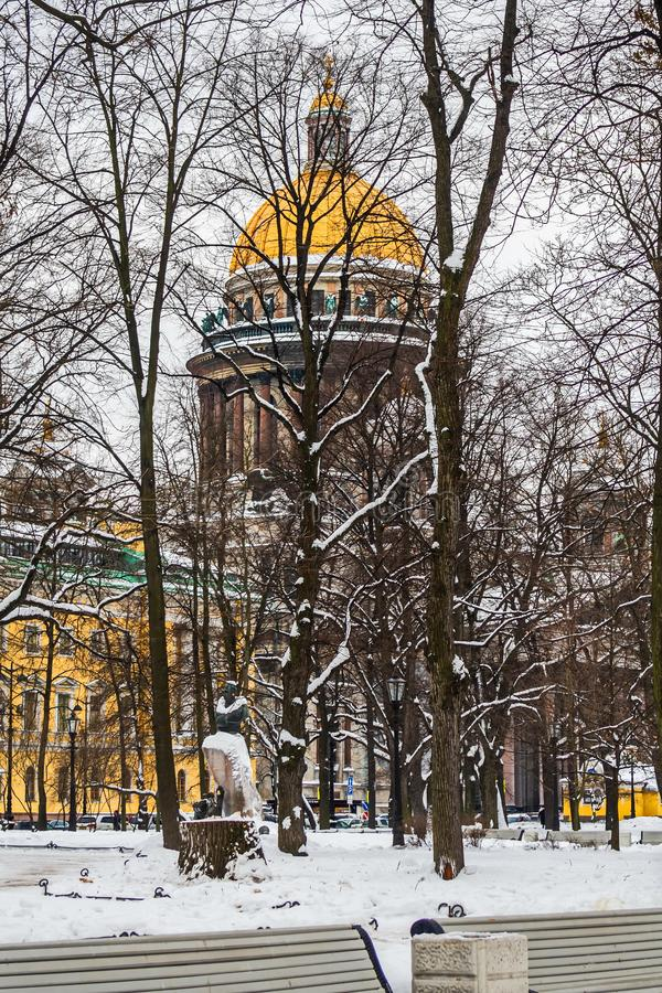 Bare tree branches in the sky. February. Pavlovsk. Park stock photos