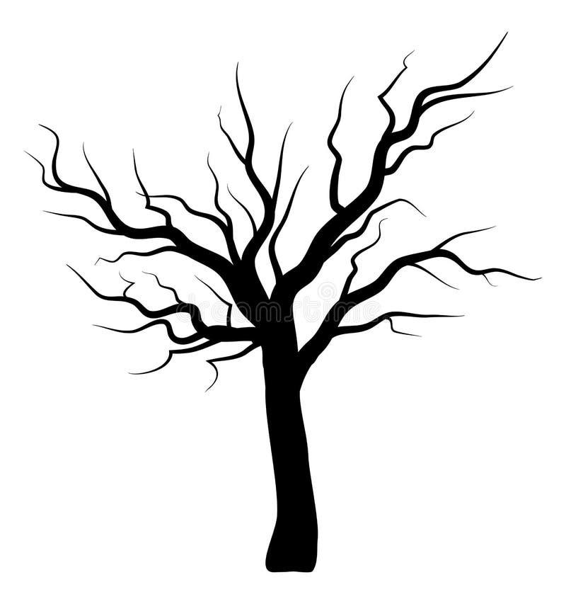 bare tree silhouette vector symbol icon design stock