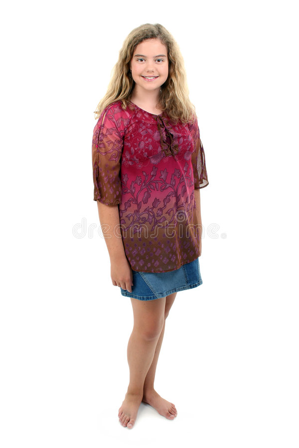 Barefoot 12 Year Old Girl stock photos