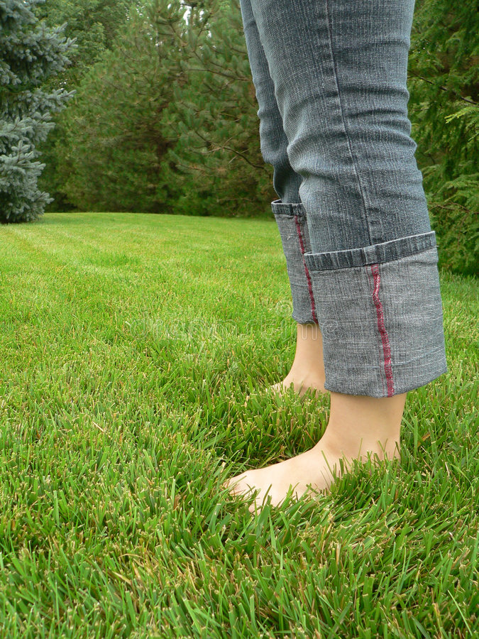 Download Barefoot in the summertime stock photo. Image of green - 195734
