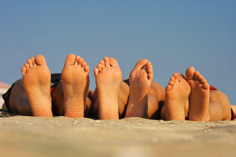 Barefoots lizenzfreies stockfoto