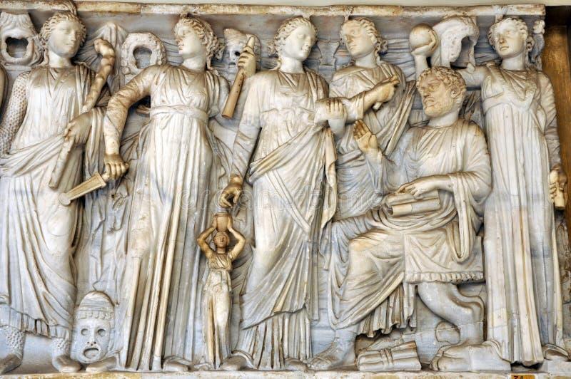 Barelief antyczni Romańscy bóg zdjęcia royalty free