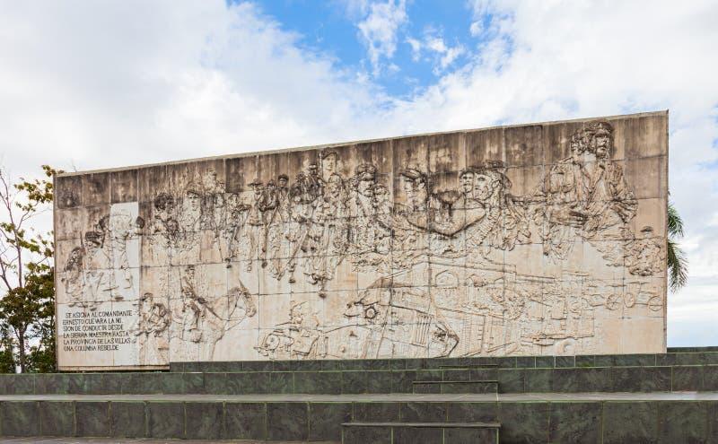 Barelief Che Guevara pomnik w Santa Clara zdjęcia stock