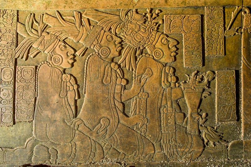 Bareliefu cyzelowanie przy Palenque rujnuje Chiapas Meksyk zdjęcie royalty free