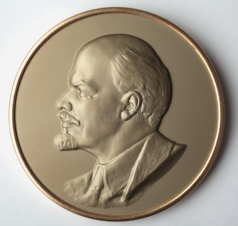 Bareliefu medal Lenin Vladimir Lenin USSR fotografia stock
