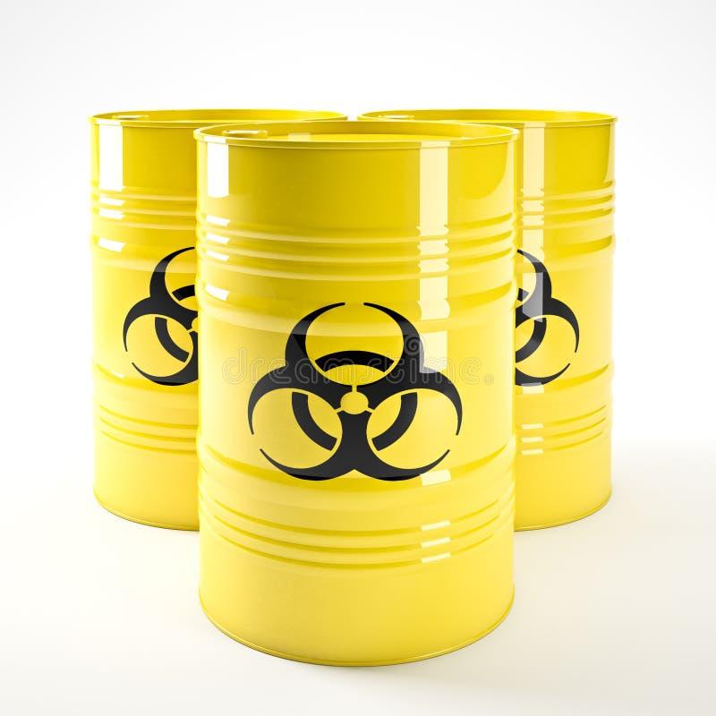 Barell de Biohazard illustration de vecteur