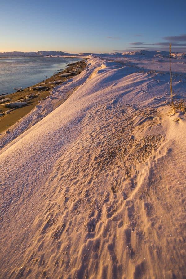 Barents morza zatoka Kola p??wysepu krajobraz fotografia stock
