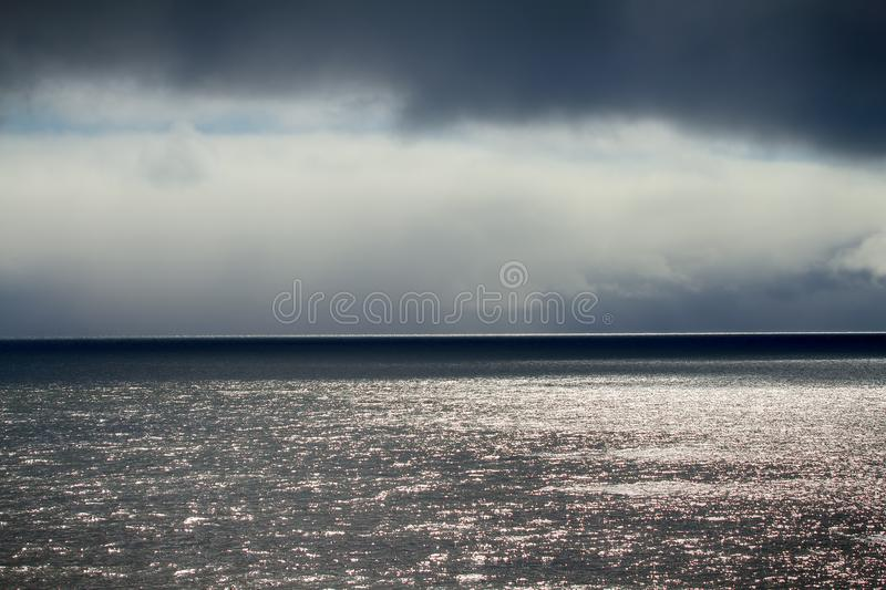 Barents sea during contrasting weather royalty free stock photography