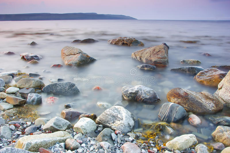 The Barents sea, Murmansk region, Russia royalty free stock images