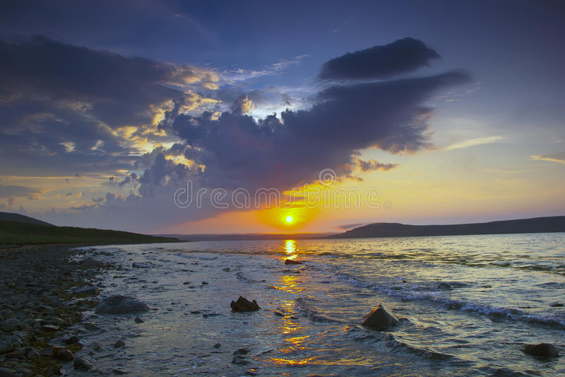 The Barents sea, Murmansk region, Russia royalty free stock photos