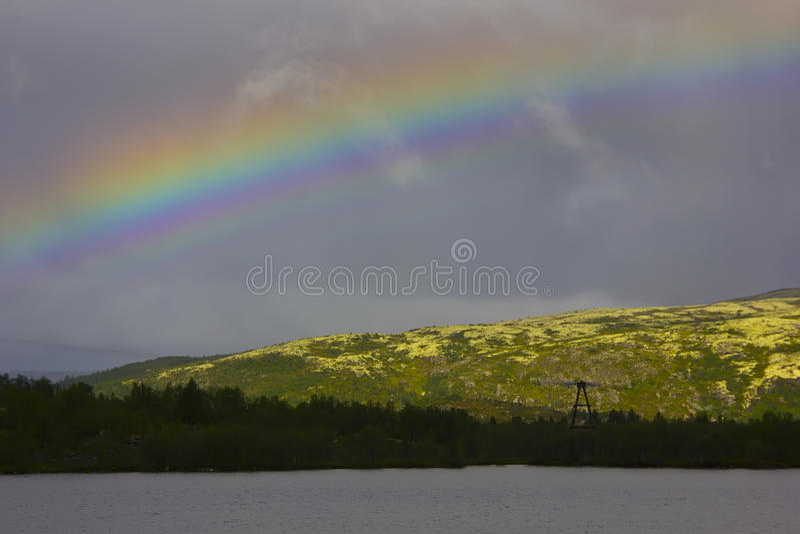 The Barents sea, Murmansk region, Russia stock photography