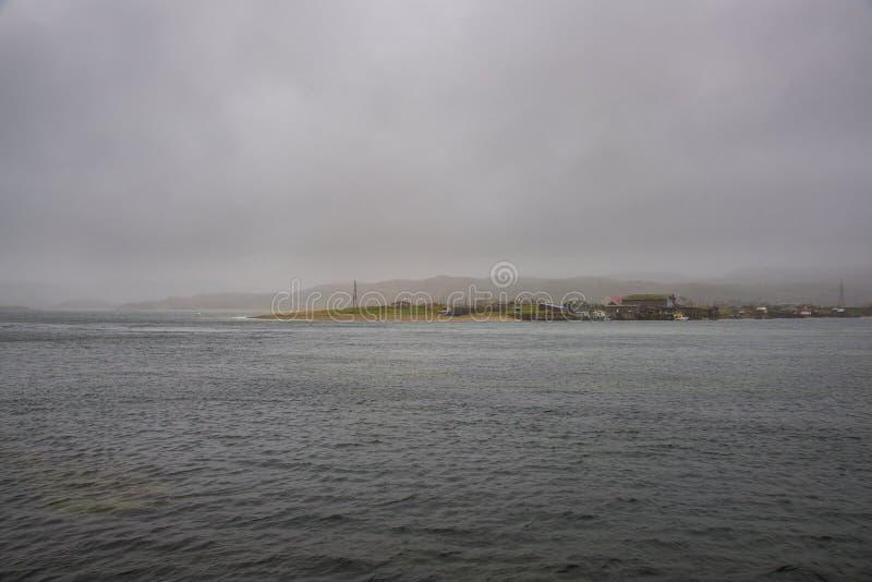 Barents Sea, Russia. Teriberka, Barents Sea, Murmansk Region, Russia stock photography
