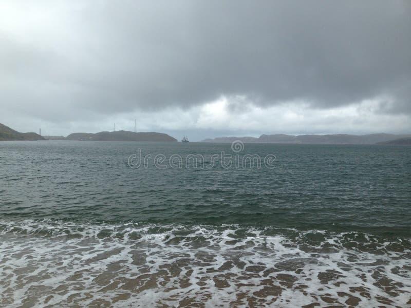 The Barents Sea. Teriberka, Murmansk region, Russia royalty free stock image