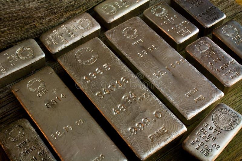 Bares Silver Bullion de Homestake Mining Company imagen de archivo libre de regalías