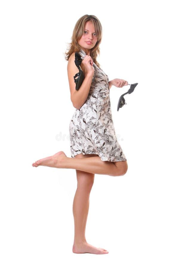 Barfüßigmädchen stockfoto