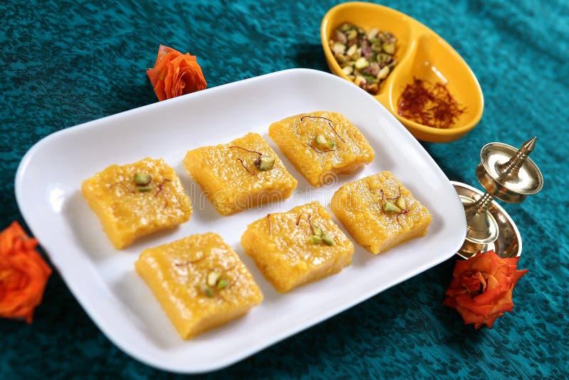 Barfi манго/десерт манго стоковое фото rf