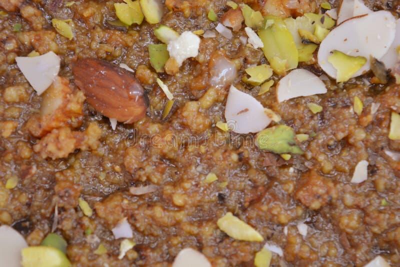 Barfi indien d'Anjeer de bonbons ou barfi de figues image stock