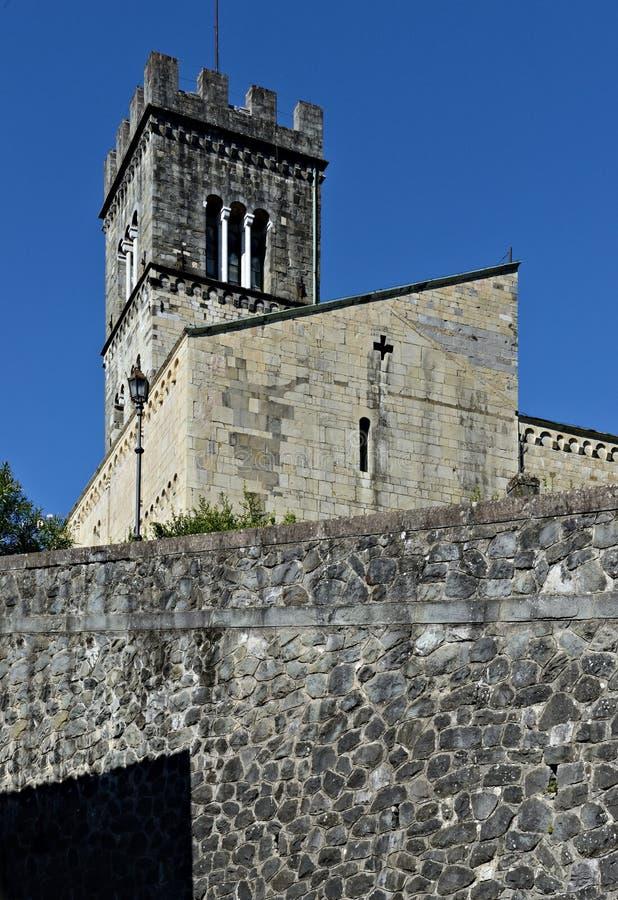 Barga Lucca Toscana Italia s chiesa di Cristopher fotografia stock libera da diritti