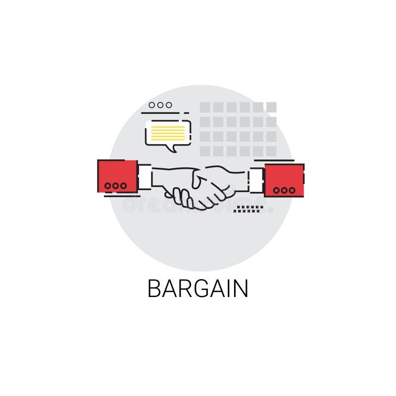 Bargain Hand Shake Agreement Icon Business Concept. Vector Illustration stock illustration