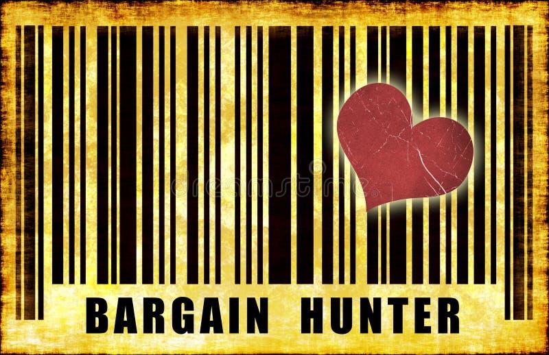 Bargain Hunter. Budget Shopper on Grunge Abstract vector illustration