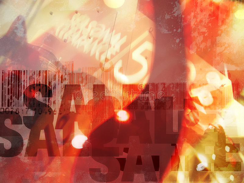 Bargain Sale. Abstract background concept. Concept for shopping, sale, discount, etc stock illustration