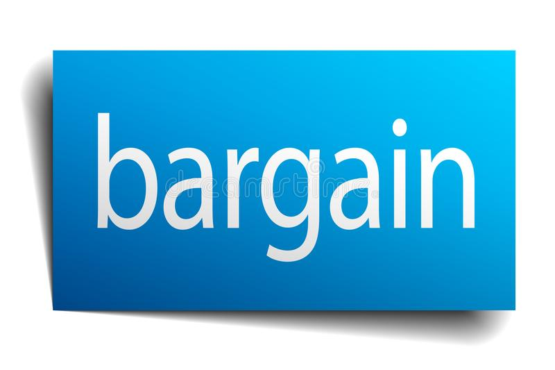 Bargain sign. Bargain square paper sign isolated on white background. bargain button. bargain royalty free illustration