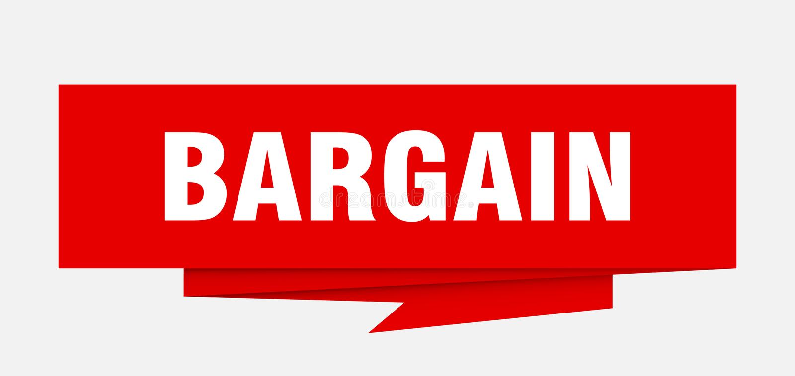 Bargain. Sign.  paper origami speech bubble.  tag.  banner stock illustration