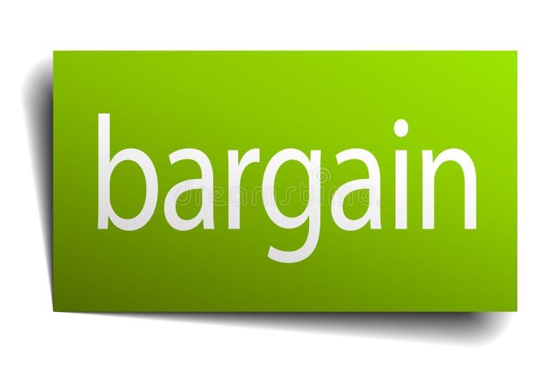 Bargain sign. Bargain square paper sign isolated on white background. bargain button. bargain vector illustration